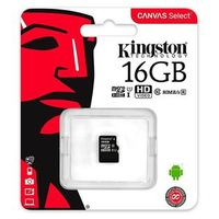 Карта памяти MicroSD 16 Gb Kingston class10 UHS-I Canvas Select up to 80 Mb/s без адаптера (SDCS/16GBSP)