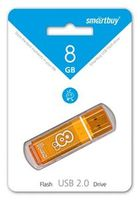 Флэш-память USB Flash 8 Gb SmartBuy Glossy Orange